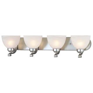 Link to Paradox Brushed Nickel 4 Light Bath by Minka Lavery Similar Items in Bathroom Vanity Lights