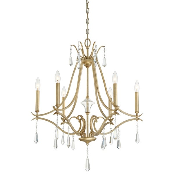 Minka Lavery Laurel Estate 6 Light Chandelier - Gold