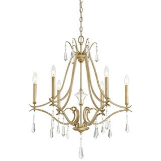 Minka lavery ceiling lights for less overstock minka lavery laurel estate 6 light chandelier gold mozeypictures Image collections