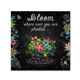 Jean Plout 'Bloom Where Planted' Canvas Art
