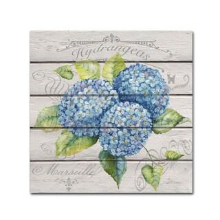 Jean Plout 'Blue Hydrangeas' Canvas Art