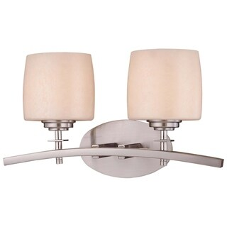 Link to Raiden Brushed Nickel 2 Light Bath by Minka Lavery Similar Items in Bathroom Vanity Lights