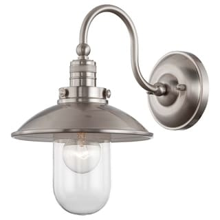 Downtown Edison Brushed Nickel 1 Light Wall Mount by Minka Lavery