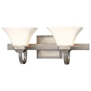 Link to Agilis Brushed Nickel 2 Light Bath by Minka Lavery Similar Items in Bathroom Vanity Lights