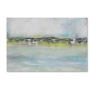 Jean Plout 'Misty Blue 2' Canvas Art