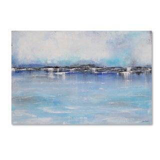 Jean Plout 'Misty Blue 1' Canvas Art