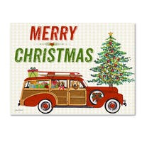 Jean Plout 'Christmas Cheer 1' Canvas Art