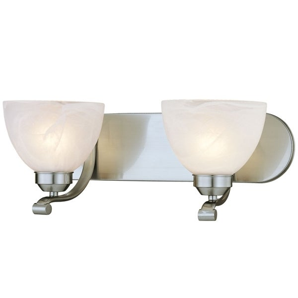 Paradox Brushed Nickel 2 Light Bath by Minka Lavery. Opens flyout.