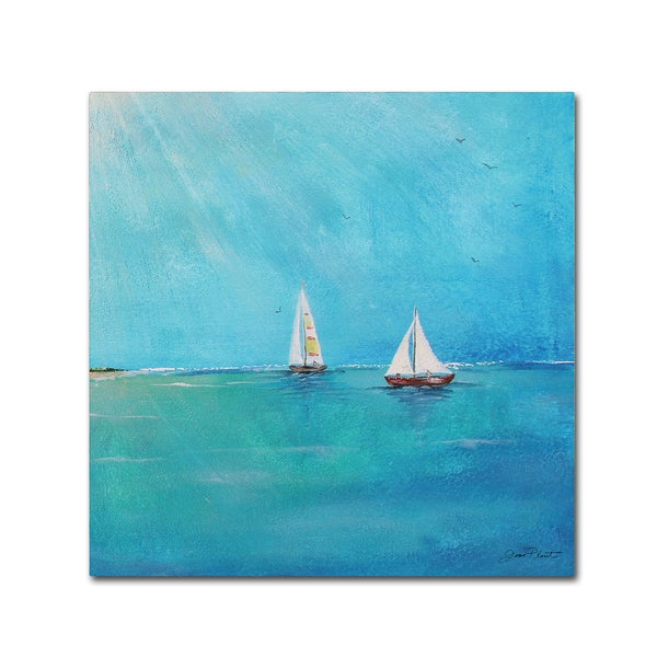 Jean Plout 'Summer Breeze 3' Canvas Art