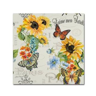 Jean Plout 'Jaime mon Jardin 2' Canvas Art
