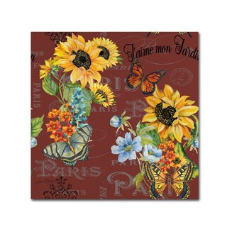 Jean Plout 'Jaime mon Jardin 1' Canvas Art
