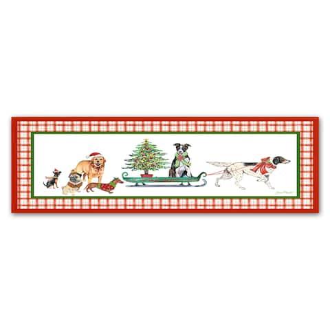 Jean Plout 'Christmas Parade 1' Canvas Art