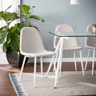 Harper Blvd Romford Grey/White Iron Upholstered Dining Chairs (Set of 4)