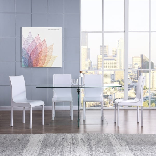 Harper Blvd Dalberry White Faux Leather Upholstered Dining Chair (Set Of 4)