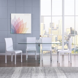 Harper Blvd Dalberry Faux Leather Upholstered Dining Chairs 4pc Set - White