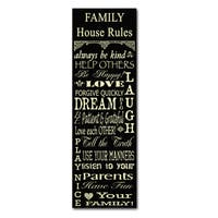 Jean Plout 'Family Rules' Canvas Art