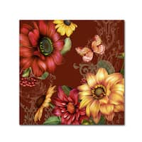 Jean Plout 'Autumn Bouquet 5' Canvas Art