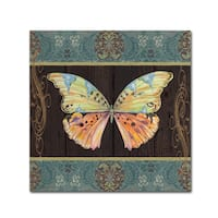 Jean Plout 'Butterflies 2' Canvas Art