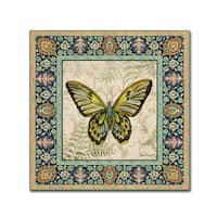 Jean Plout 'Butterflies 1' Canvas Art