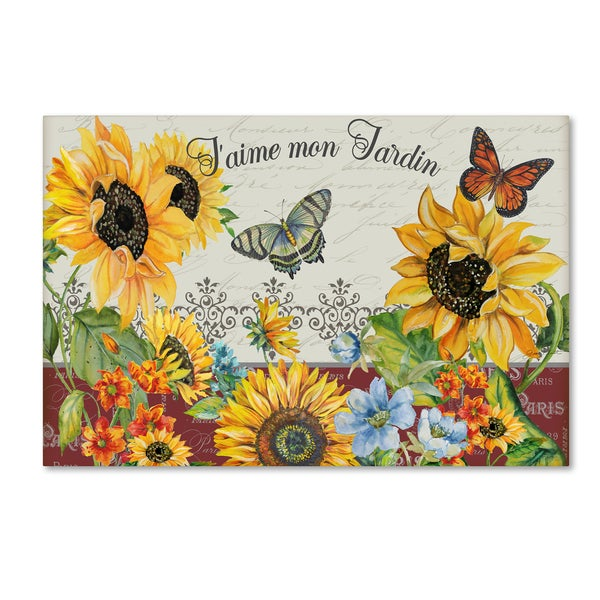 Jean Plout 'Jaime Mon Jardin' Canvas Art