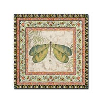 Jean Plout 'Bohemian Dragonfly' Canvas Art