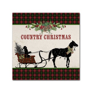 Jean Plout 'Country Christmas 3' Canvas Art