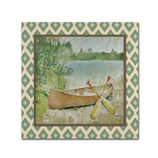 Jean Plout 'Wilderness Lodge Q2 B' Canvas Art