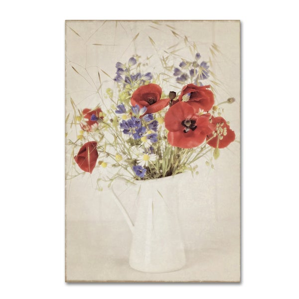 Cora Niele 'Vintage Jug With Wildflower Bouquet' Canvas Art
