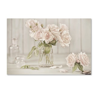 Cora Niele 'Vintage Roses In Antique Glass' Canvas Art