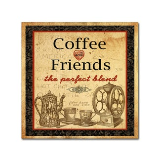 Jean Plout 'Coffee And Friends' Canvas Art