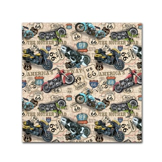 Jean Plout 'Vintage Motorcycles On Route 66 10' Canvas Art