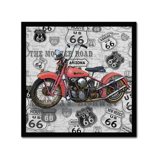 Jean Plout 'Vintage Motorcycles On Route 66 8' Canvas Art