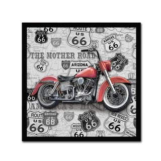 Jean Plout 'Vintage Motorcycles On Route 66 6' Canvas Art