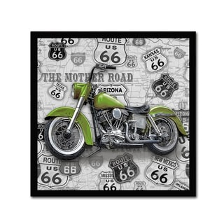Jean Plout 'Vintage Motorcycles On Route 66 5' Canvas Art