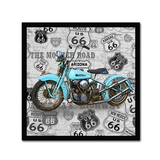 Jean Plout 'Vintage Motorcycles On Route 66 3' Canvas Art