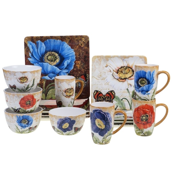 Certified International Poppy Garden 16 pc Dinnerware Set