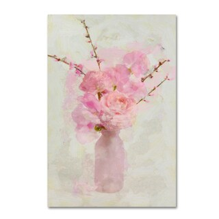 Cora Niele 'Small Pink Bouquet' Canvas Art