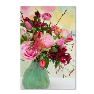 Cora Niele 'Red And Pink Bouquet' Canvas Art