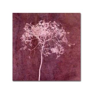 Cora Niele 'Hortensia Silhouette Wine Red' Canvas Art
