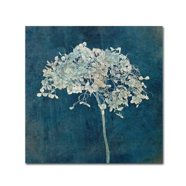 Cora Niele 'Hortensia Silhouette Sapphire' Canvas Art