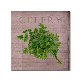 Cora Niele 'Classic Herbs Celery' Canvas Art