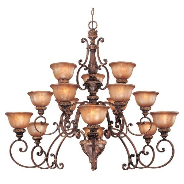 Minka Lavery Illuminati 15 Light Chandelier - Bronze