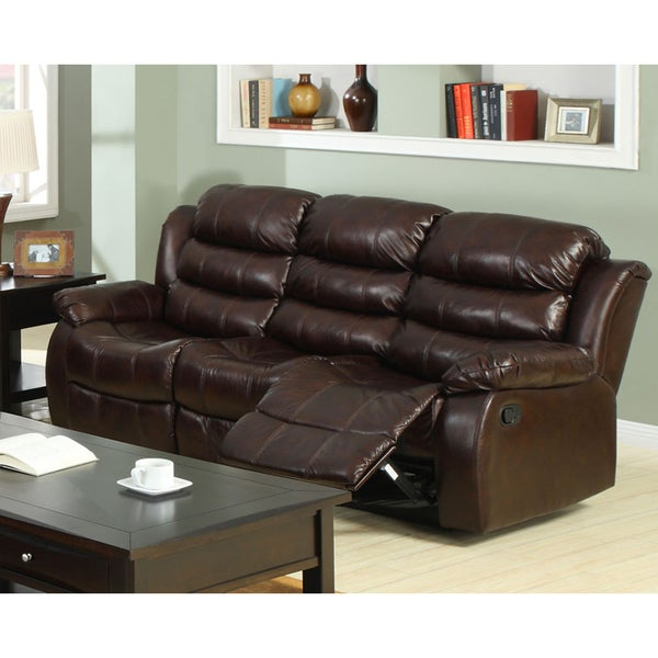 Berkshield Transitional Rustic Brown Reclining Sofa By Foa On Free Shipping Today 18047749