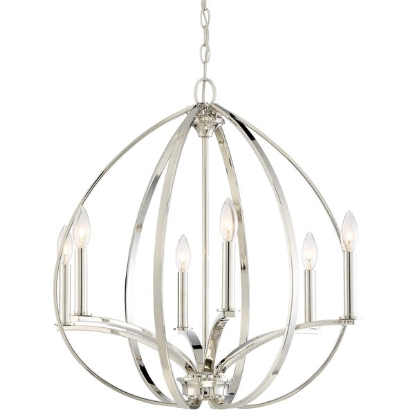 Minka Lavery Tilbury 6 Light Chandelier - Silver