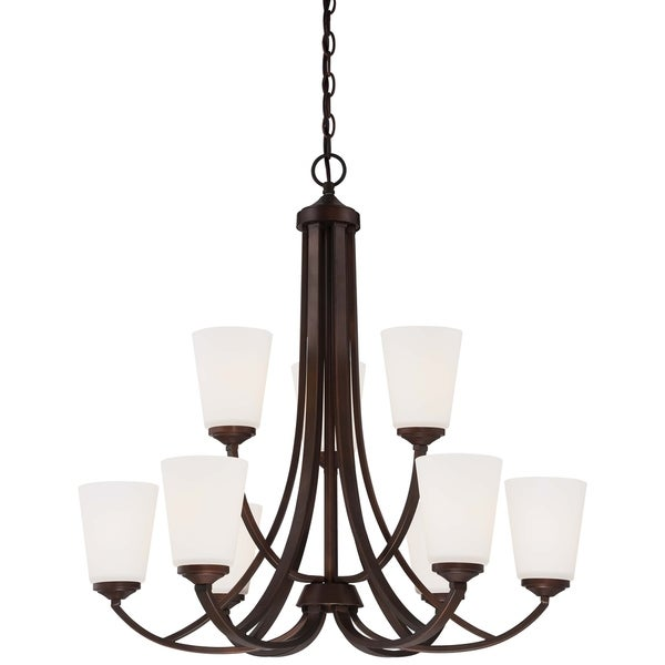 Minka Lavery Overland Park 9 Light Chandelier - Bronze
