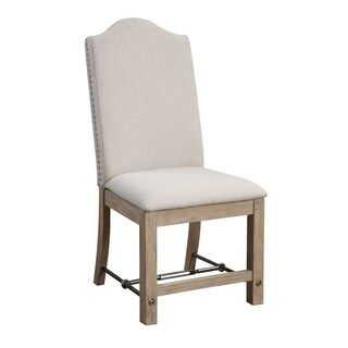 Castle Bay Chair with Upholstered Seat and Back (Set of 2)