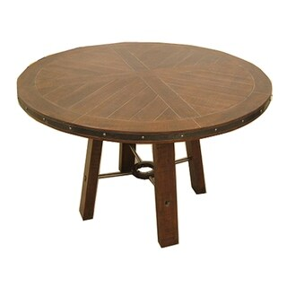 Emerald Home Castlegate Brown Round Dining Table