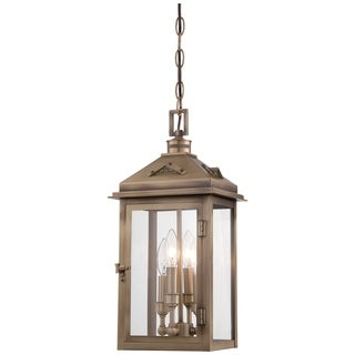 Minka Lavery Eastbury Brown Solid Brass 4-light Chain-hung Light Fixture