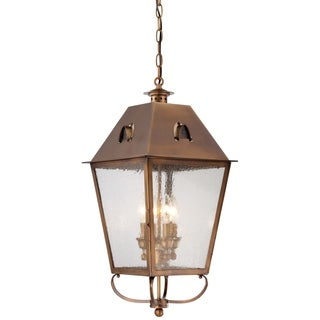 Minka Lavery Erenshire English Brass Finish 4-light Hanging Lantern