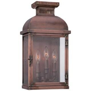Minka Lavery Copperton Copper/ Glass 3-light Pocket Lantern